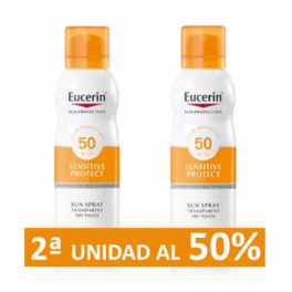 EUCERIN Sun Spray Transparent Dry Touch Sensitive Protect FPS 50