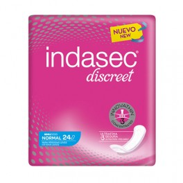 Indasec Discreet Normal 24+12 compresas